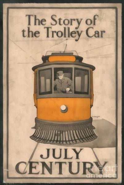Vintage Train Painting - Tolley Car Vintage by Edward Fielding