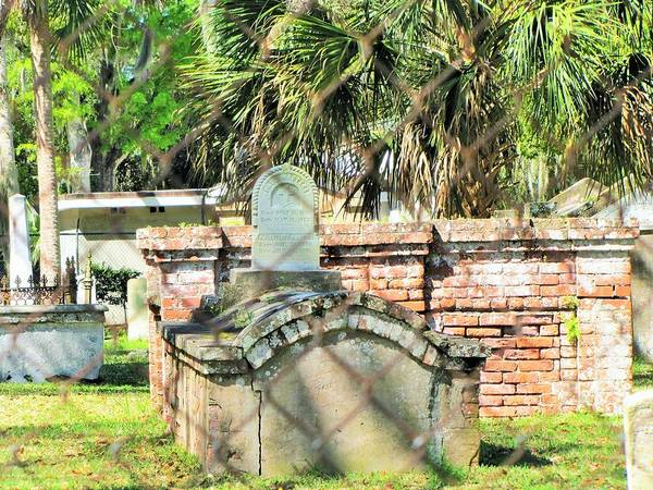 Indian Burial Ground Photograph - Tolomato Cemetery by Nancy Hopkins