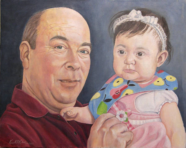 Granddaughter Painting - Tom And Emily by Kenneth Kelsoe