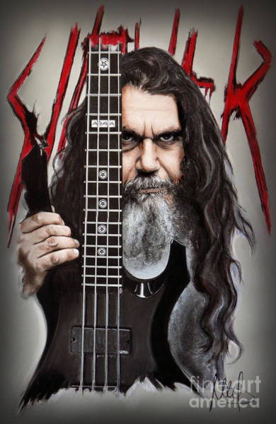 Thrash Metal Wall Art - Pastel - Tom Araya by Melanie D