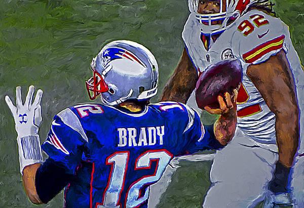 Painting - Tom Brady 2016 by Rick Mosher