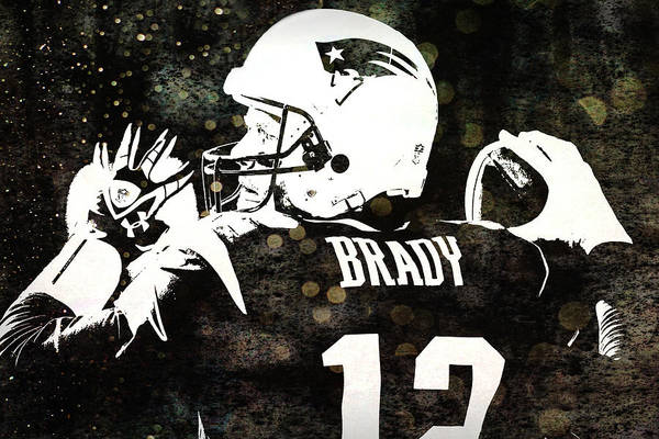 Photograph - Tom Brady Art by Joann Vitali