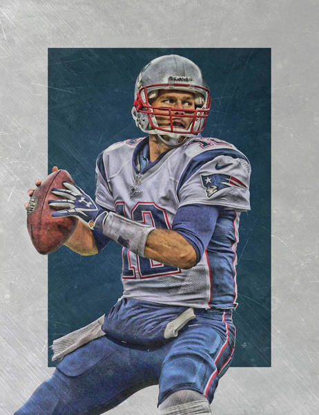 Wall Art - Painting - Tom Brady New England Patriots Art by Joe Hamilton