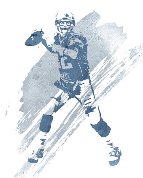 Wall Art - Mixed Media - Tom Brady New England Patriots Water Color Art 3 by Joe Hamilton