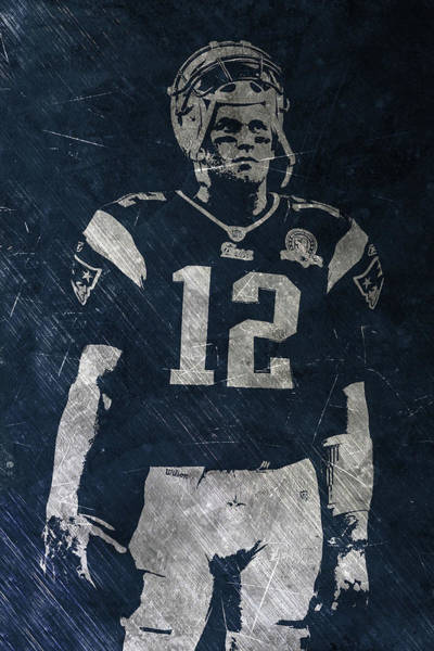 Wall Art - Painting - Tom Brady Patriots 4 by Joe Hamilton