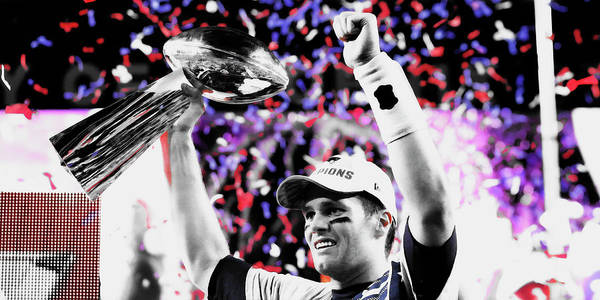 Wall Art - Mixed Media - Tom Brady Superbowl Victory by Brian Reaves