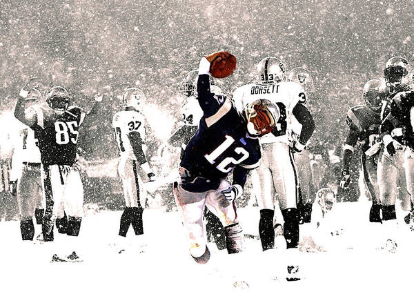 Wall Art - Mixed Media - Tom Brady Touchdown Spike by Brian Reaves