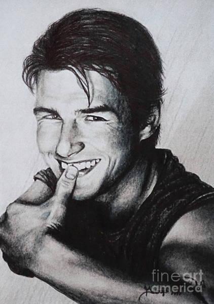 Drawing - Tom Cruise 1990s by Georgia's Art Brush