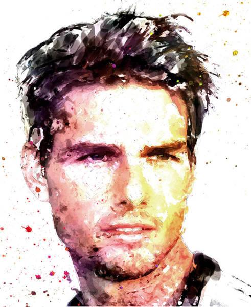 Wall Art - Digital Art - Tom Cruise by Elena Kosvincheva