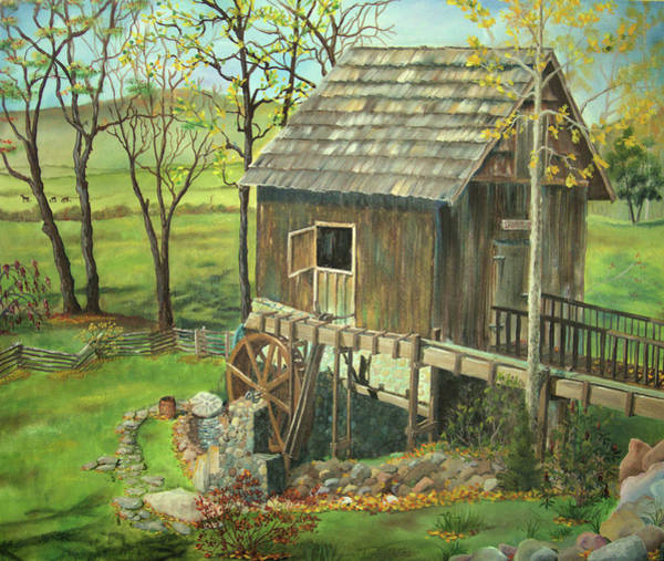 Painting - Tom Lott's Mill In Georgia by Nicole Angell