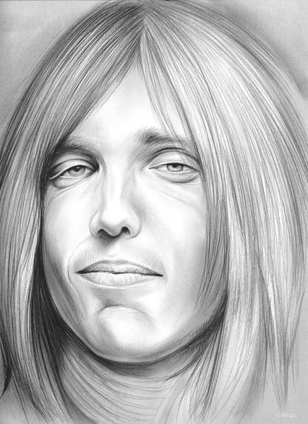 Vocalist Wall Art - Drawing - Tom Petty by Greg Joens