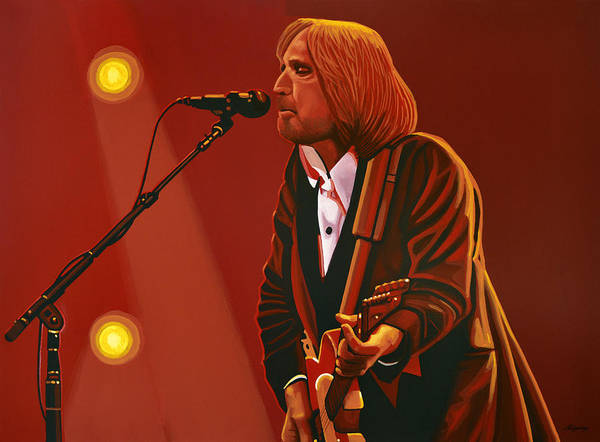 Red Moon Painting - Tom Petty by Paul Meijering