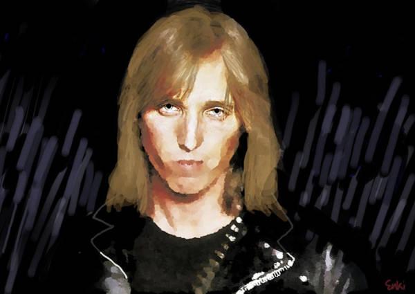 Blue Oyster Cult Wall Art - Mixed Media - Tom Petty Rock N Roll  by Enki Art