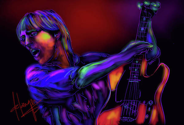 Painting - Tom Petty Tribute 2 by DC Langer