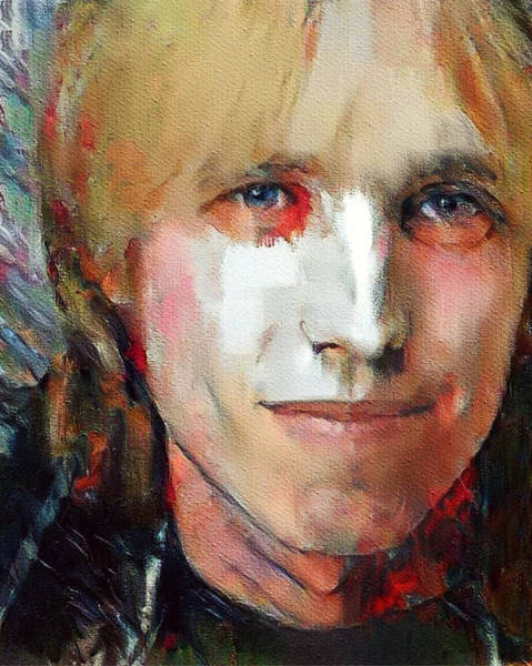 Country House Digital Art - Tom Petty Tribute Portrait 3 by Yury Malkov