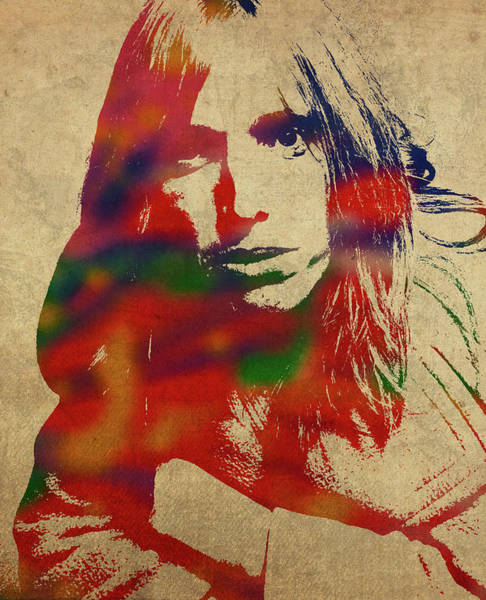 Classic Rock Mixed Media - Tom Petty Watercolor Portrait by Design Turnpike