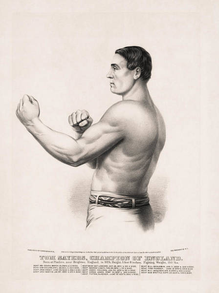 Boxing Drawing - Tom Sayers - English Bare-knuckle Champion by War Is Hell Store
