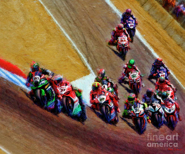 Photograph - Tom Sykes Leads The 2017 World Superbike Field by Blake Richards