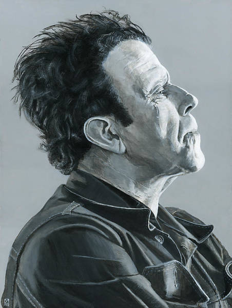 Painting - Tom Waits by Matthew Mezo