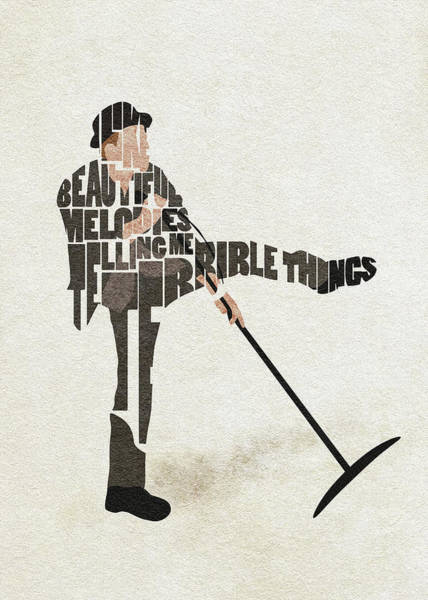 Lyrical Digital Art - Tom Waits Typography Art by Inspirowl Design