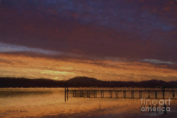 Impasto Photograph - Tomales Bay Sunrise  - Painterly by David Gordon