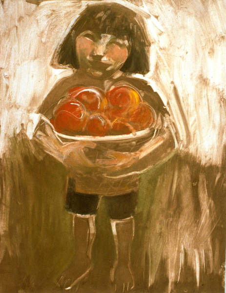 Painting - Tomato Girl by Laura Lee Cundiff