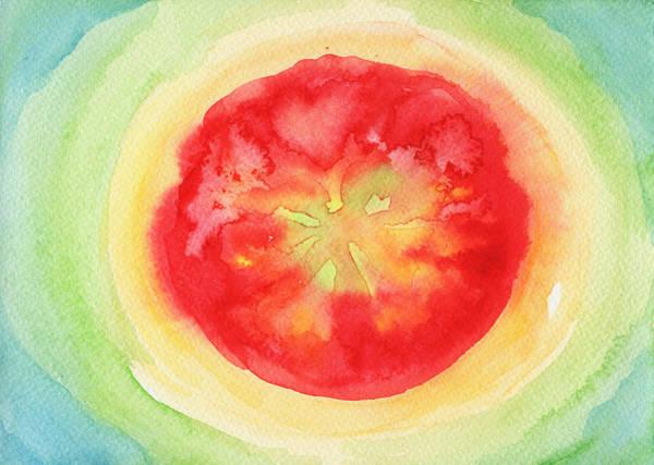 Ingredient Painting - Fresh Tomato by Kathleen Wong