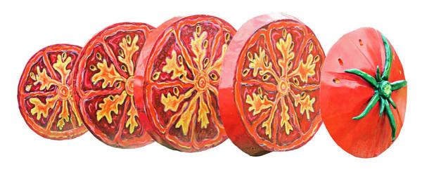 Photograph - Tomato On White Background by Kristin Elmquist