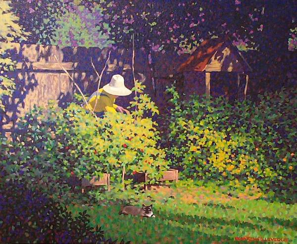 Toolshed Wall Art - Painting - Tomato Patch by Kevin Lawrence Leveque