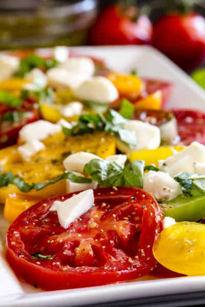 Photograph - Tomatoes, Basil And Cheese by Teri Virbickis