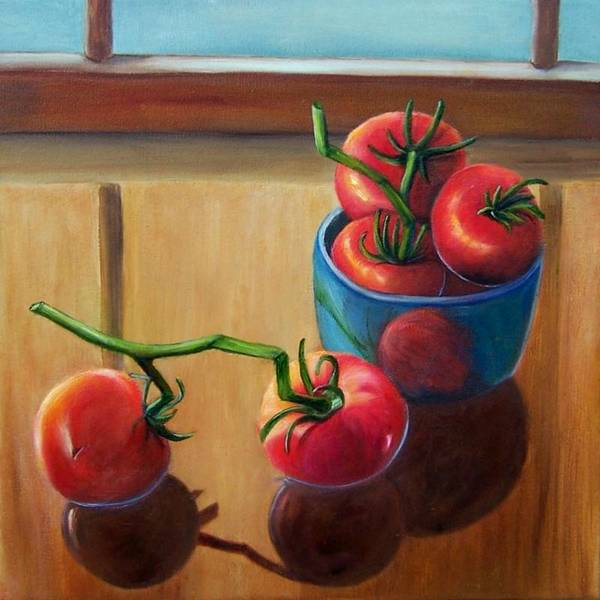 Painting - Tomatoes Fresh Off The Vine by Susan Dehlinger