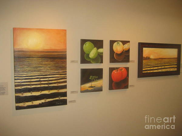 Wall Art - Painting - Tomatoes Start To Finish by Maria Hunt