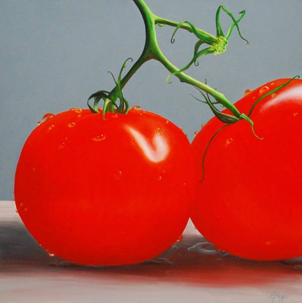 Painting - Tomatoes With Stems by Emily Page