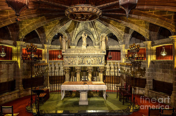 Alabaster Photograph - Tomb Of Saint Eulalia In The Crypt Of Barcelona Cathedral by RicardMN Photography