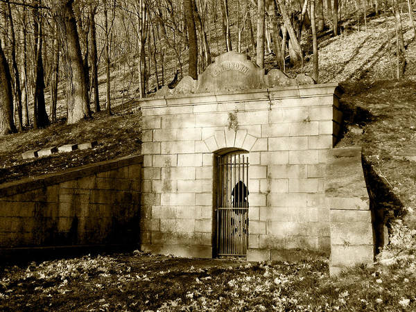 Tomb With A View In Sepia Art Print
