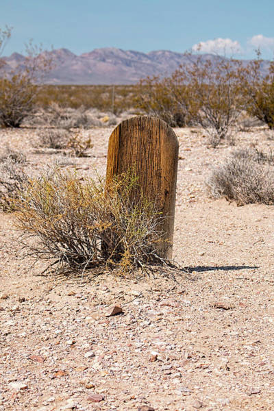 Photograph - Tombstone At Bullfrog Rhyolite Cemetery by Kristia Adams