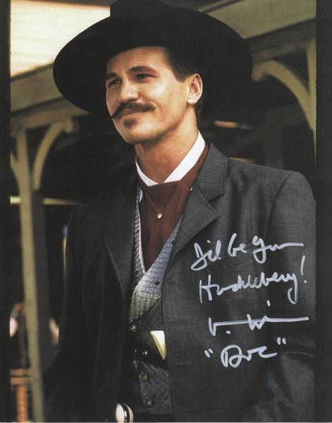 Wall Art - Photograph - Tombstone Doc Holliday Val Kilmer Autographed by Peter Nowell