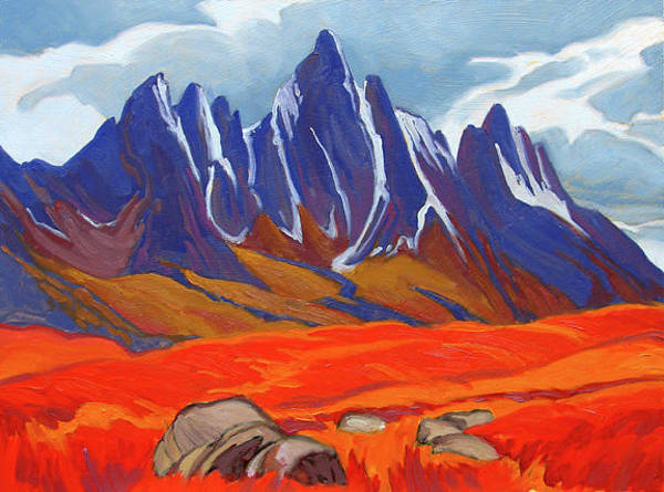 Wall Art - Painting - Tombstone Range Fall Color by Paul Gauthier