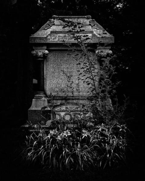 Wall Art - Photograph - Tombstone Shadow.  An Ongoing by Brian Carson
