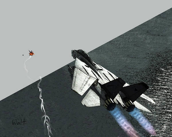 Digital Art - Tomcat Kill by Walter Chamberlain