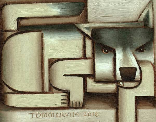 Wall Art - Painting - Tommervik Lone Wolf Art Print by Tommervik
