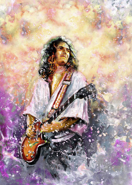 Painting - Tommy Bolin by Miki De Goodaboom