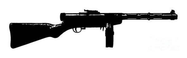 Weapons Digital Art - Tommy Gun Tee by Edward Fielding