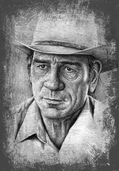 Wall Art - Drawing - Tommy Lee Jones by Andrew Read