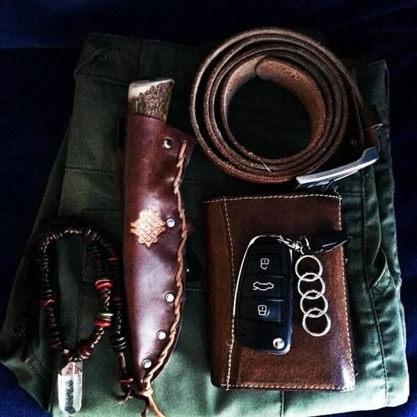 Audi Photograph - Tomorrow Bushman Style #leather #knife by Jakub Horsky