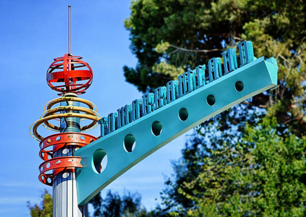 Tomorrowland Photograph - Tomorrowland Railroad Station - December 2, 2015 by Todd Young