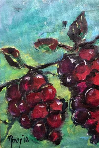 Wine Painting - Tomorrows Pinot Noir by Roxy Rich