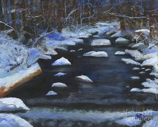 Wall Art - Painting - Tom's Creek Delaware Water Gap  by Gloria Condon