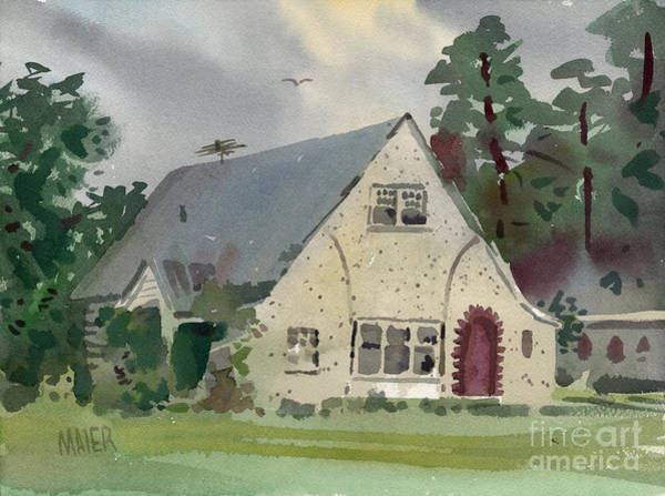 Estate Painting - Tonietti's Real Estate by Donald Maier