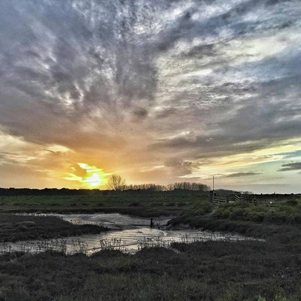 Landscape Photograph - Tonight's Sunset From Thornham by John Edwards